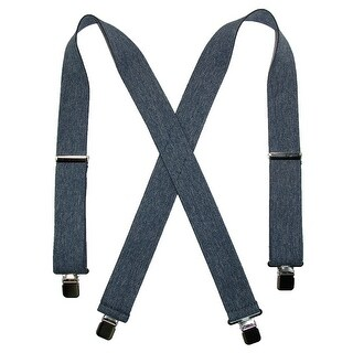CTM® Men's Denim Clip-End 2 Inch Suspenders - Dark Denim - One Size