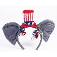 Republican Elephant Ears Patriotic Costume Headband - Grey