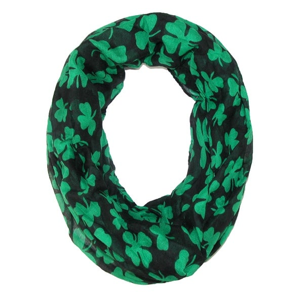 David & Young Women's St. Patricks Day Shamrock Infinity Loop Scarf - One size