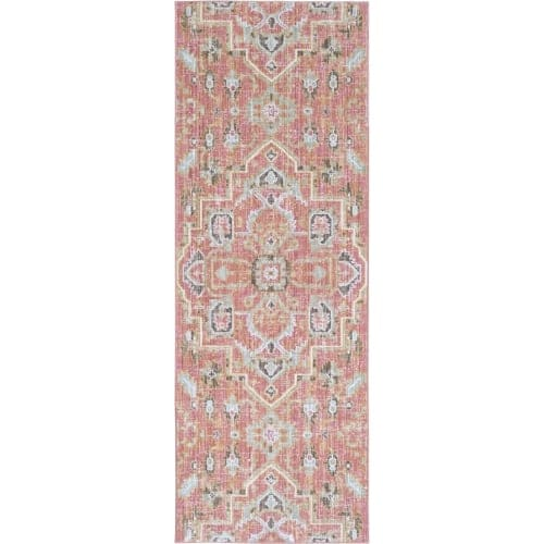 Surya GER2318-211710 Germili 3' x 8' Runner Synthetic Power Loomed Traditional A - Pink