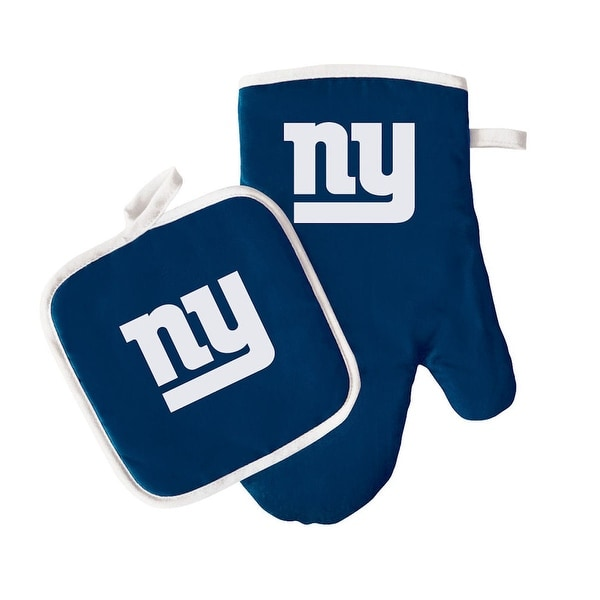 New York Giants Oven Mitt and Pot Holder - One size fits all. Opens flyout.
