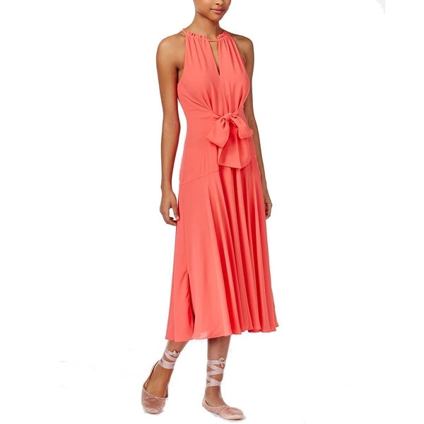 Shop RACHEL Rachel Roy Tie Front Midi Dress Watermelon - Free Shipping On  Orders Over  45 - Overstock.com - 21862168 94b78520171a