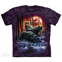 The Mountain Men's Fire and Ice Wolves Adult T-Shirt