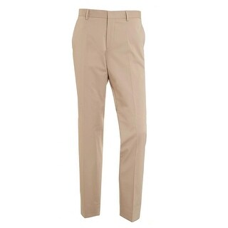 Hugo Boss Mens Gibson Cyl Slim Fit Stretch Cotton Pants 36 Beige Trousers