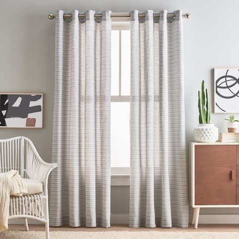 Cargo Stripe Grommet Curtain Panel Pair