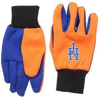 Officially Licensed MLB No Slip Gardening / Work / Utility Glove With Team Logo Baseball NY Mets