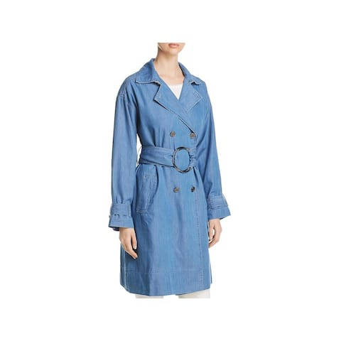 Kenneth Cole Womens Trench Coat Fall Utility