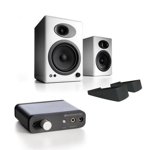 Audioengine A5+ Classic Speakers w/ stands & D1 24-Bit DAC w/ Headphone Amp