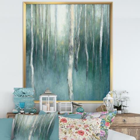 Designart 'Green Forest Dream' Traditional Landscape Premium Framed Art Print