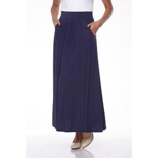 Maxi Skirt with Pockets - Navy