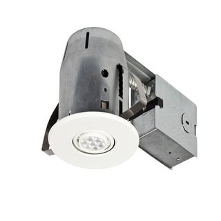 Globe Electric 90732 4  LED Swivel Spotlight Recessed Lighting Kit - IC Rated  sc 1 st  Overstock & 3
