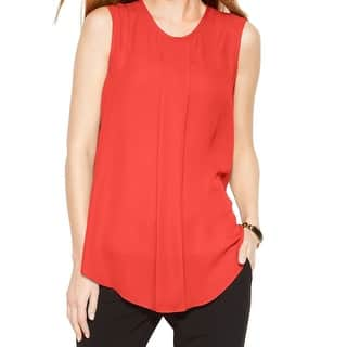 Vince Camuto NEW Coral Orange Women's Size XL Tank Front-Pleat Top|https://ak1.ostkcdn.com/images/products/is/images/direct/1b573930f0c58a3ff69171ebcc38aa827624107f/Vince-Camuto-NEW-Coral-Orange-Women%27s-Size-XL-Tank-Front-Pleat-Top.jpg?impolicy=medium
