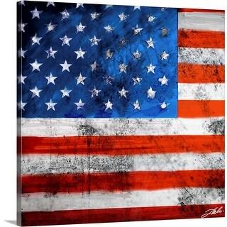 """American Flag"" Canvas Wall Art"