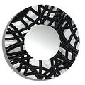 Statements2000 Black / Silver Metal Decorative Wall-Mounted Mirror by Jon Allen - Mirror 108 - Thumbnail 1