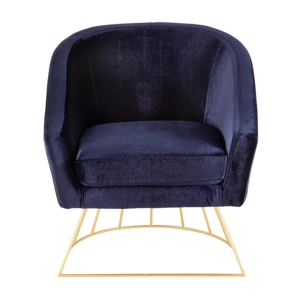 Silver Orchid Lawrence Contemporary-Glam Tub Chair. Opens flyout.