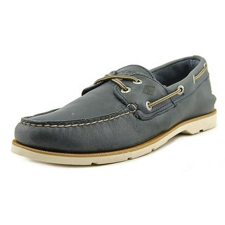 Sperry Top Sider Leeward 2-Eye Moc Toe Leather Boat Shoe