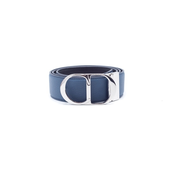 Christian Dior Men's Blue Reversible Leather Belt