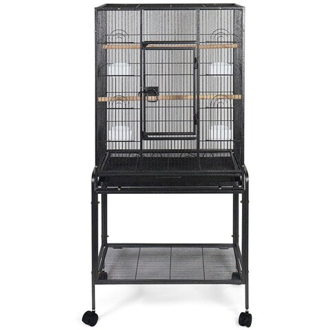 Gymax Bird Parrot Cage Chinchilla Cockatiel House Wheels