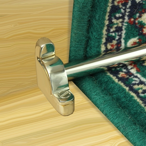 Charmant Polished Nickel Carpet Rods For Stair Runner Rod Holder Includes Brackets