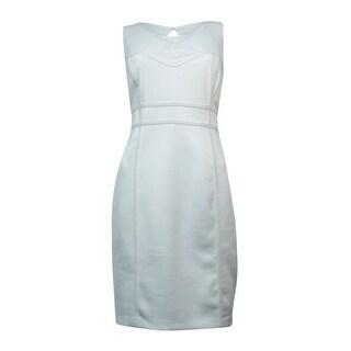 Thalia Sodi Women's Mesh Cutout-Back Illusion Dress - Cloud