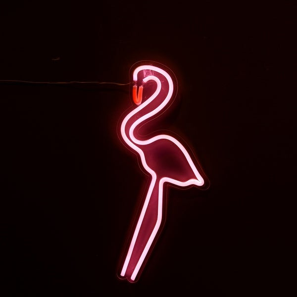 """19"""" Pink and Red Flamingo Wall Mountain - N/A"""
