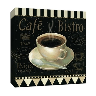 "PTM Images 9-153493  PTM Canvas Collection 12"" x 12"" - ""Cafe Parisian IV"" Giclee Coffee, Tea & Espresso Art Print on Canvas"