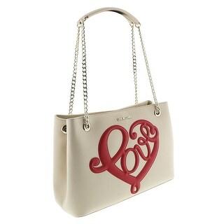 Moschino JC4255 0110 Ivory/Red Satchel/Shoulder Bag