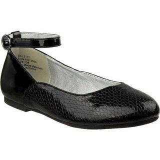 Kensie Girl Girls' KG79066M Ankle Strap Ballet Flat Black