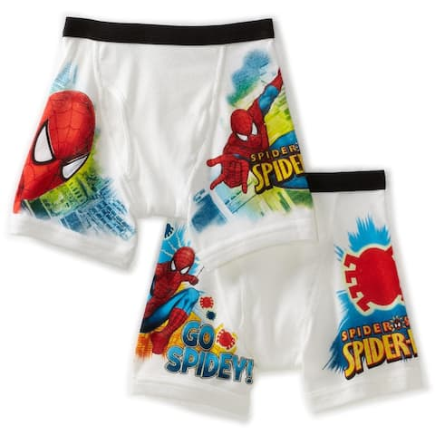 Fruit of the Loom Boys 2-7 Spiderman Extended Leg Briefs Prints, Multi, 6