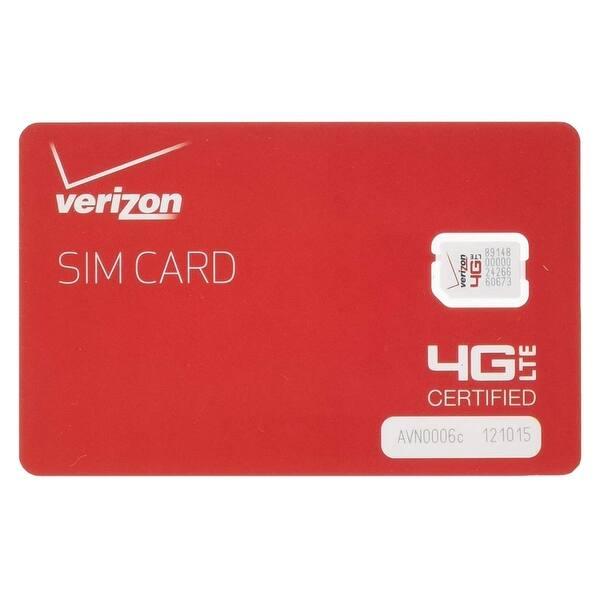 Shop Black Friday Deals On Verizon Wireless Postpaid Prepaid 4g Lte Nano Sim Card 4ff Red Overstock 31594499