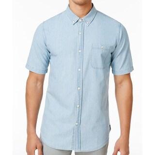 Ezekiel NEW Light Blue Mens Size Medium M Denim Button Down Shirt