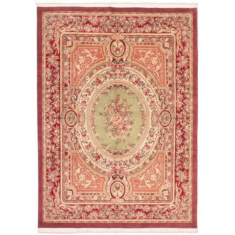 ECARPETGALLERY Hand-knotted Pako Persian 18/20 Copper, Red Wool Rug - 10'0 x 14'0