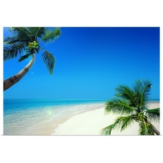 """""""Palm trees and sea"""" Poster Print"""