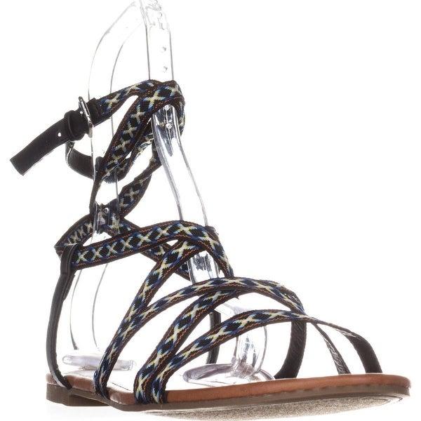 Indigo Rd. Camryn Flat Casual Sandals, Black Multi - 10 us