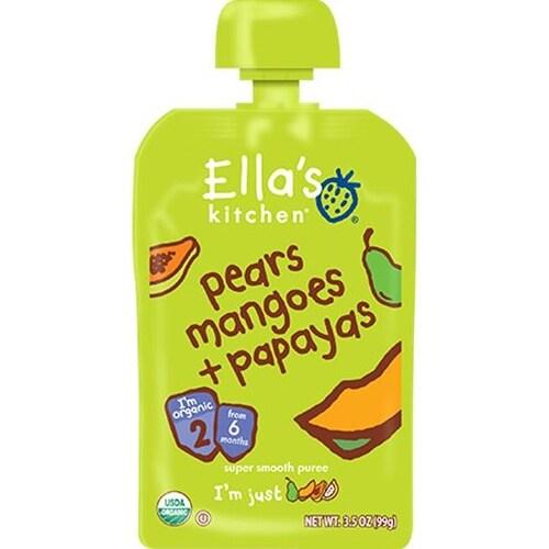 Ella's Kitchen - Pears Mangoes & Papayas Puree ( 12 - 3.5 OZ)