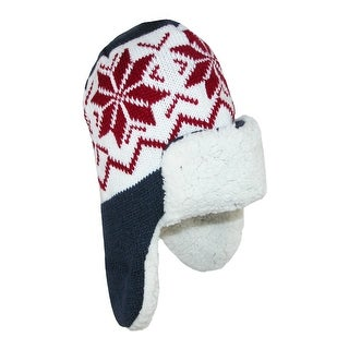 CTM® Kids' Fleece Lined Helmet Hat with Winter Design