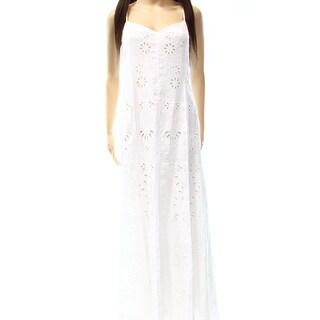 Polo Ralph Lauren NEW White Women's Size 12 Eyelet Knit Sheath Dress
