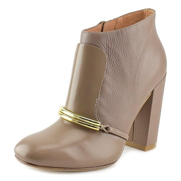 Sigerson Morrison Tutu Women Square Toe Leather Brown Bootie