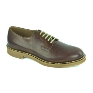 Brunello Cucinelli Mens Brown Leather Brown Lace up Derbys