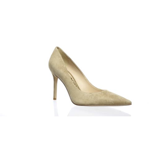 05110efc8ca1 Sam Edelman Womens Hazel Oatmeal Suede Pumps Size 9