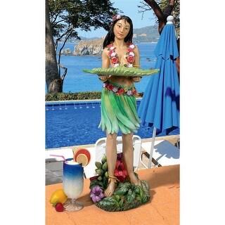 Design Toscano Hawaiian Hula Wahine Serving Table Statue