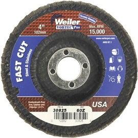"""Weiler 4"""" 60G Flap Disc"""