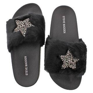 4bbc670c966 Steve Madden Shimmer Women s Faux Fur Sandal (Option  ...