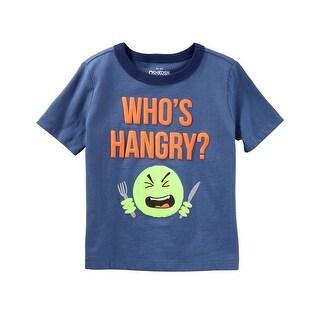 OshKosh B'gosh Little Boys' Who's Hangry Tee, 4-Toddler