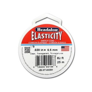 Beadalon Elasticity .5mm Clear 25M
