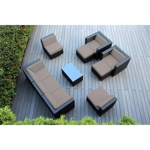 Ohana Black Wicker Outdoor 10-piece Conversation Set