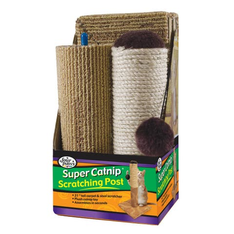 Four Paws Super Catnip Carpet and Sisal Scratching Post