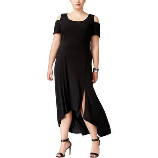 NY Collection Womens Plus Maxi Dress Matte Jersey Open Shoulder