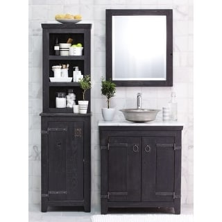 """Native Trails BNDA80 Americana 31"""" Free Standing Vanity Set with Wood Cabinet, Marble Top, Sink, and Mirror"""