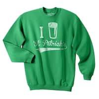 I Beer St. Patrick's Day Funny Lucky Drinking Unisex Crew Neck Sweatshirt